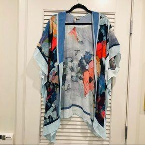 Anthropologie Colorful Kimono